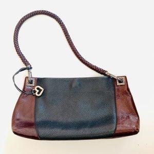 Brighton Black & Brown Pebbled Leather Handbag